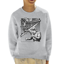Flash Gordon Space Suit Rocket Montage Kid's Sweatshirt - POD66