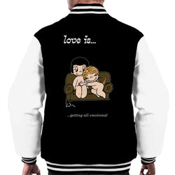Love Is Getting All Emotional Men's Varsity Jacket - POD66
