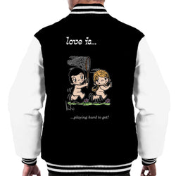 Love Is Playing Hard To Get Men's Varsity Jacket - POD66