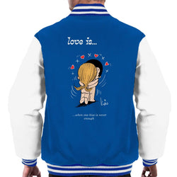 Love Is When One Kiss Is Never Enough Men's Varsity Jacket - POD66