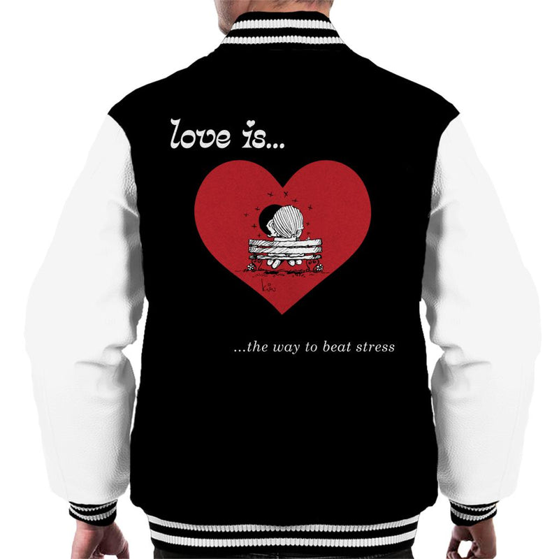 Love Is The Way To Beat Stress Men's Varsity Jacket - POD66