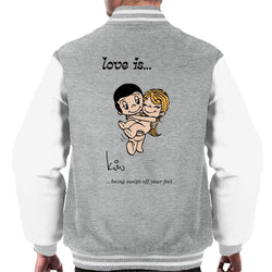 Love Is Being Swept Off Your Feet Men's Varsity Jacket - POD66