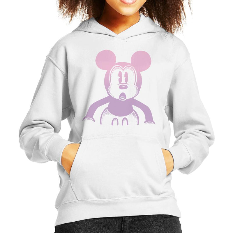 Disney Mickey Mouse Retro Silhouette Kid's Hooded Sweatshirt - POD66