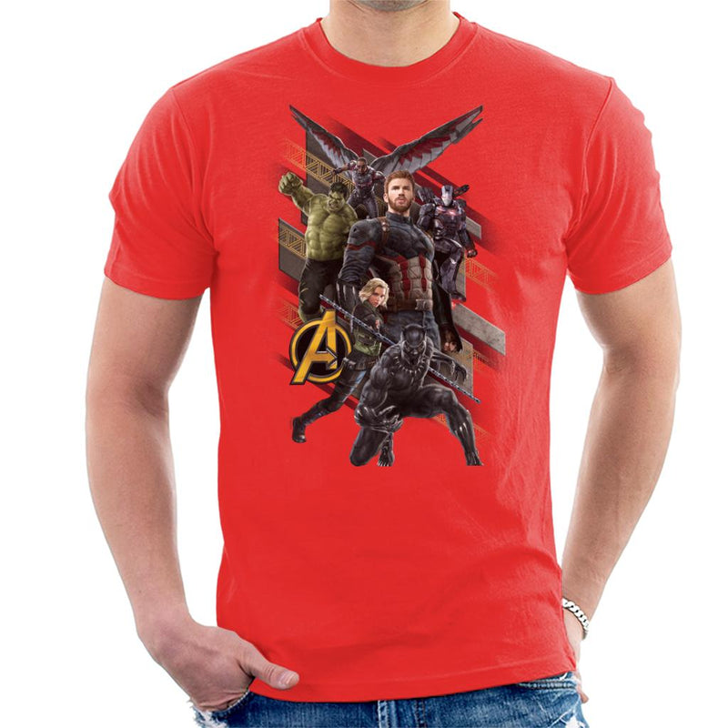 Marvel Avengers Infinity War Wakanda Battle Team Men's T-Shirt - POD66