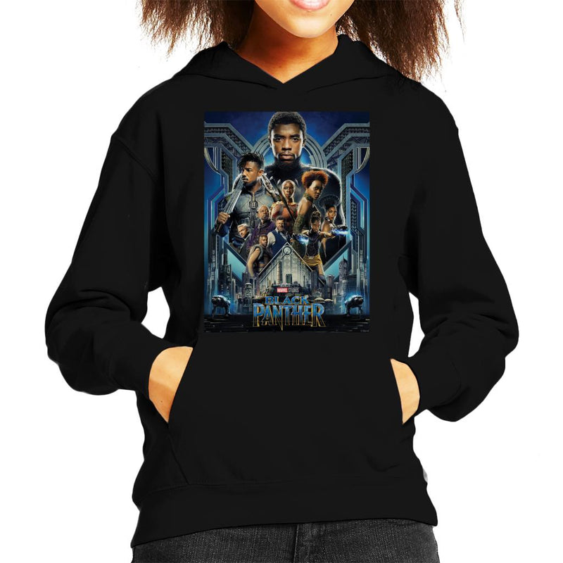 Marvel Black Panther Movie Poster Kid's Hooded Sweatshirt - POD66