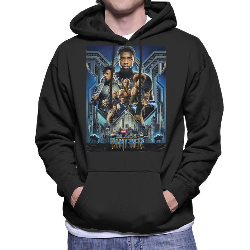 Marvel Black Panther Movie Poster Men's Hooded Sweatshirt - POD66