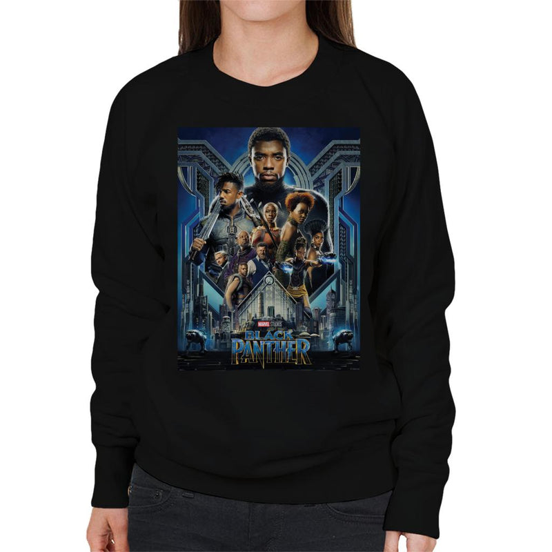 Marvel Black Panther Movie Poster Women's Sweatshirt - POD66