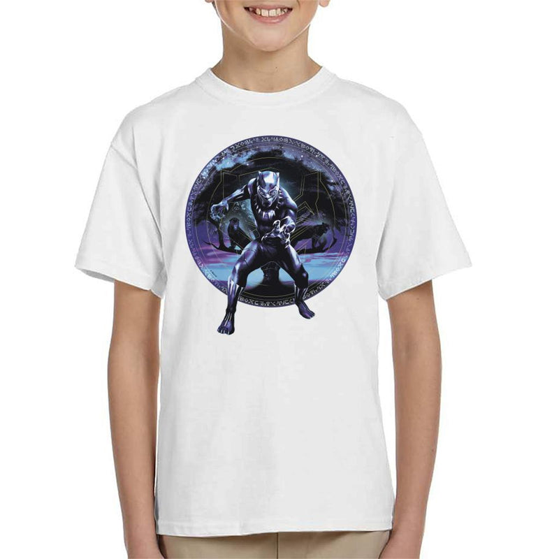 Marvel Black Panther Tree Montage Kid's T-Shirt - POD66