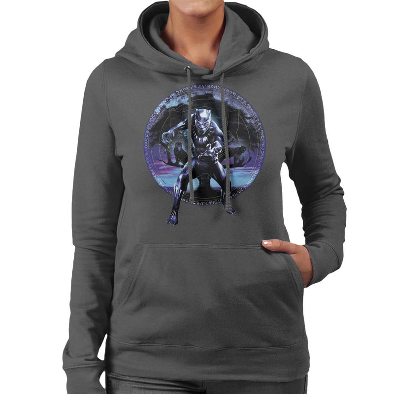 Marvel Black Panther Tree Montage Women's Hooded Sweatshirt - POD66