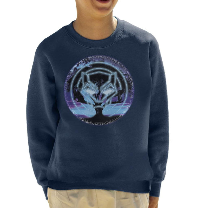 Marvel Black Panther Symbol Tree Kid's Sweatshirt - POD66