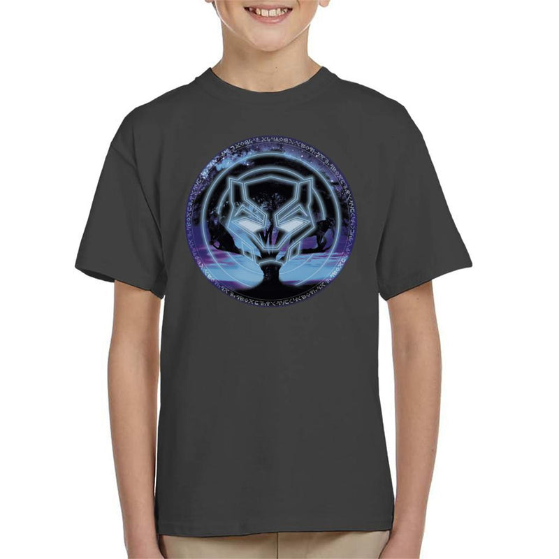 Marvel Black Panther Symbol Tree Kid's T-Shirt - POD66