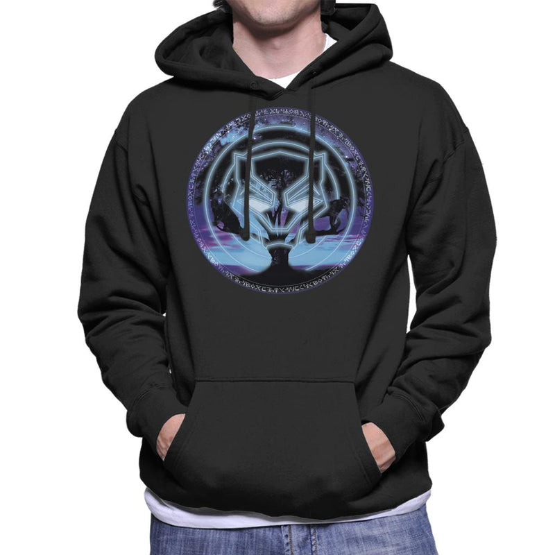 Marvel Black Panther Symbol Tree Men's Hooded Sweatshirt - POD66