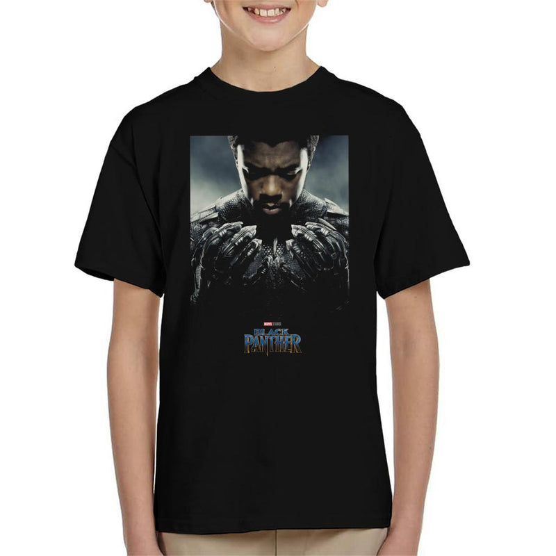 Marvel Black Panther Character Poster Kid's T-Shirt - POD66