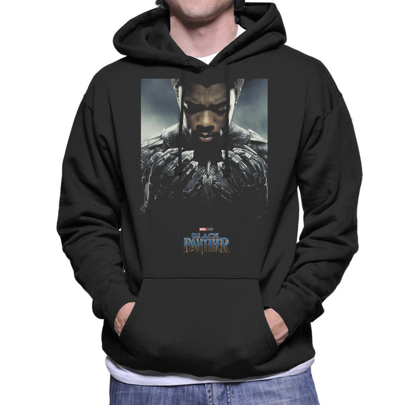 Marvel Black Panther Character Poster Men's Hooded Sweatshirt - POD66