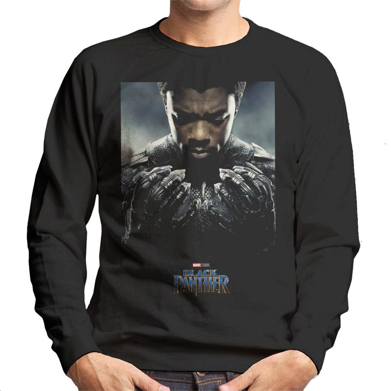 Marvel Black Panther Character Poster Men's Sweatshirt - POD66