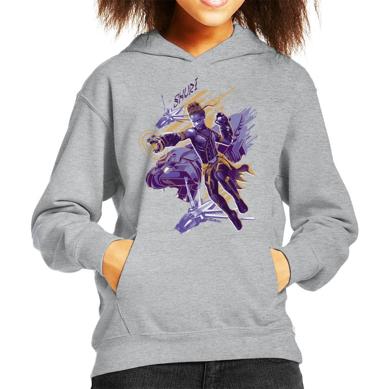 Marvel Black Panther Shuri Vibranium Gauntlet Attack Kid's Hooded Sweatshirt - POD66