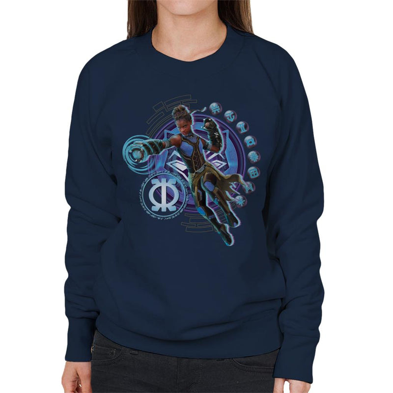 Marvel Black Panther Shuri Vibranium Gauntlet Purpose Symbol Women's Sweatshirt - POD66