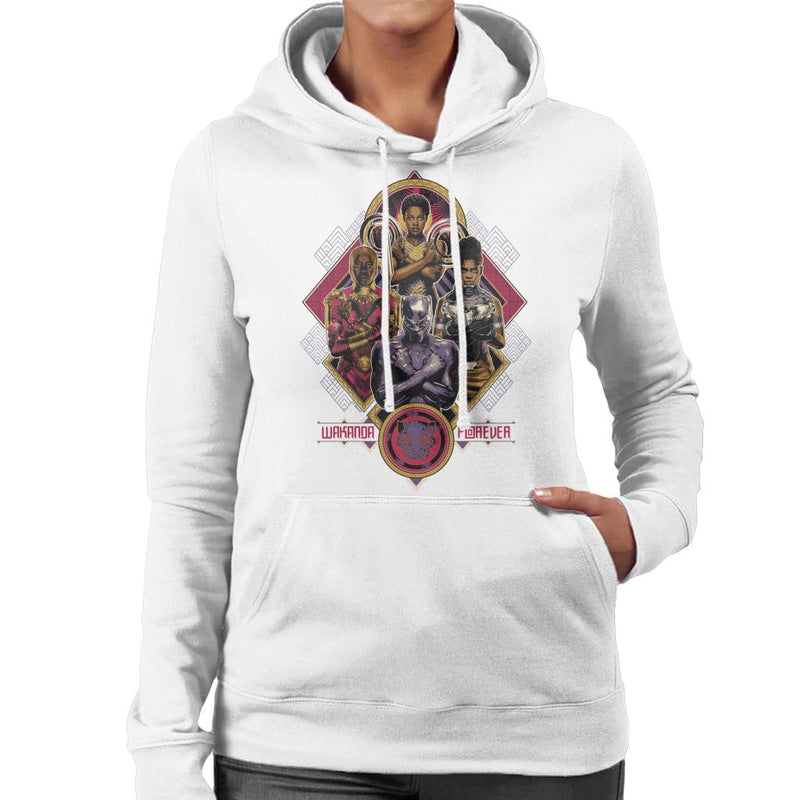 Marvel Black Panther Wakanda Forever Nakia Shuri Okoye Women's Hooded Sweatshirt - POD66