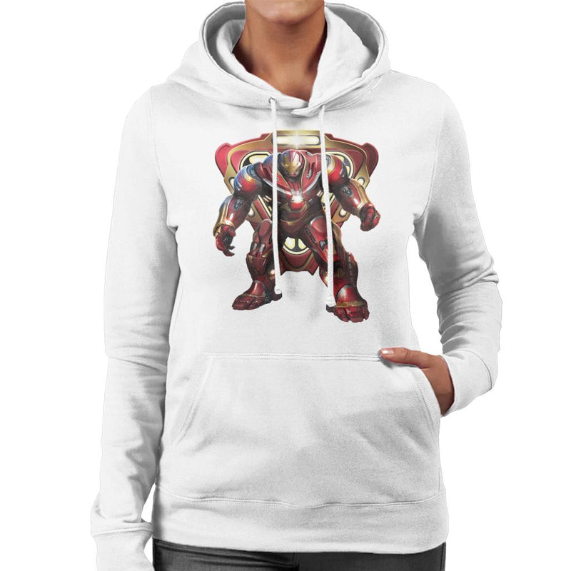 Marvel Avengers Infinity War Hulkbuster Battle Ready Women's Hooded Sweatshirt - POD66