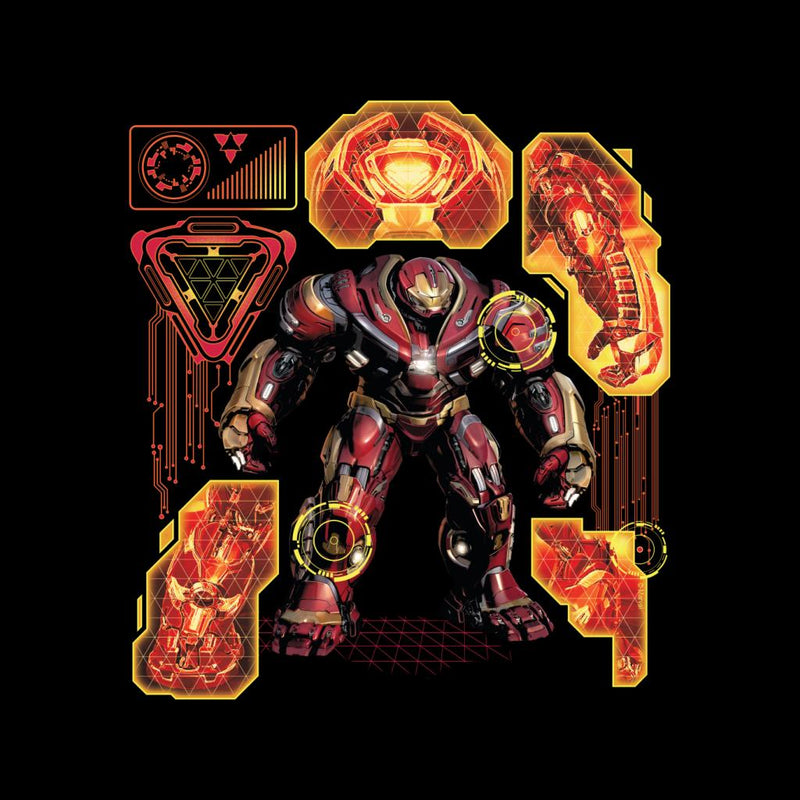 Marvel Avengers Infinity War Hulkbuster Technical Kid's T-Shirt - POD66