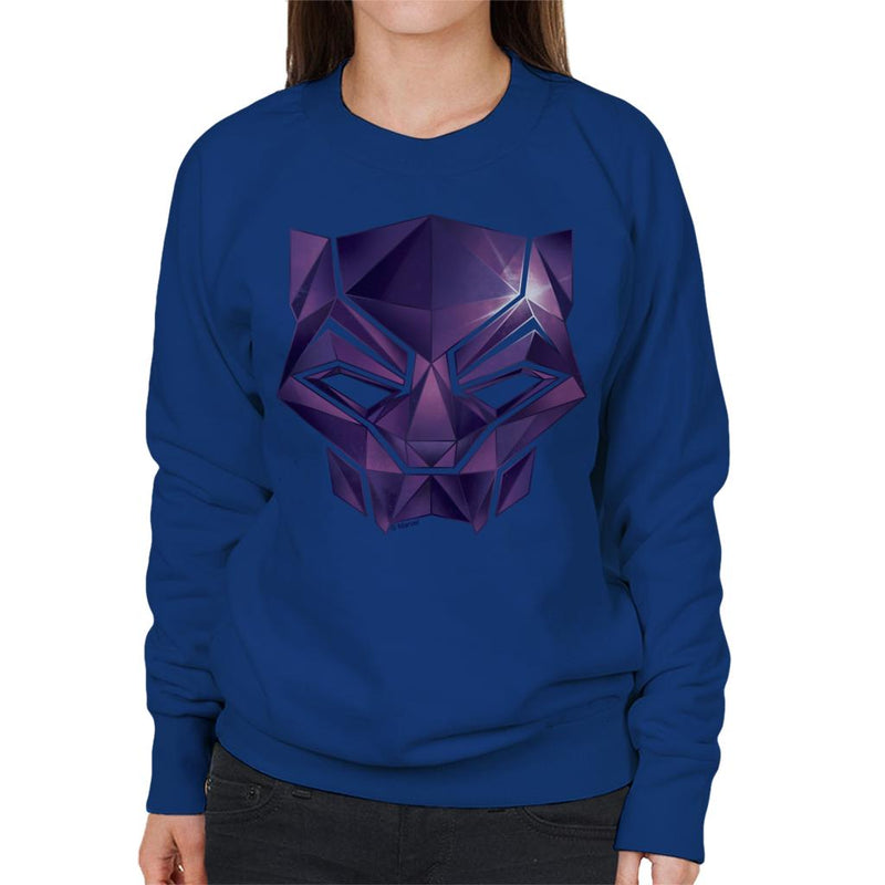 Marvel Avengers Infinity War Black Panther Mask Women's Sweatshirt - POD66
