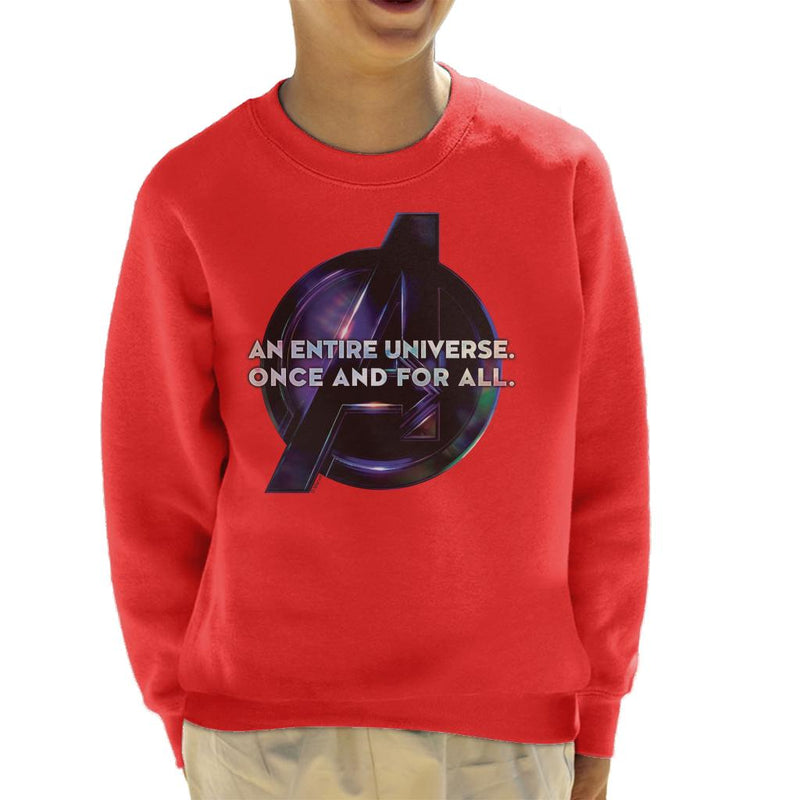 Marvel Avengers Infinity War An Entire Universe Once And For All Kid's Sweatshirt - POD66