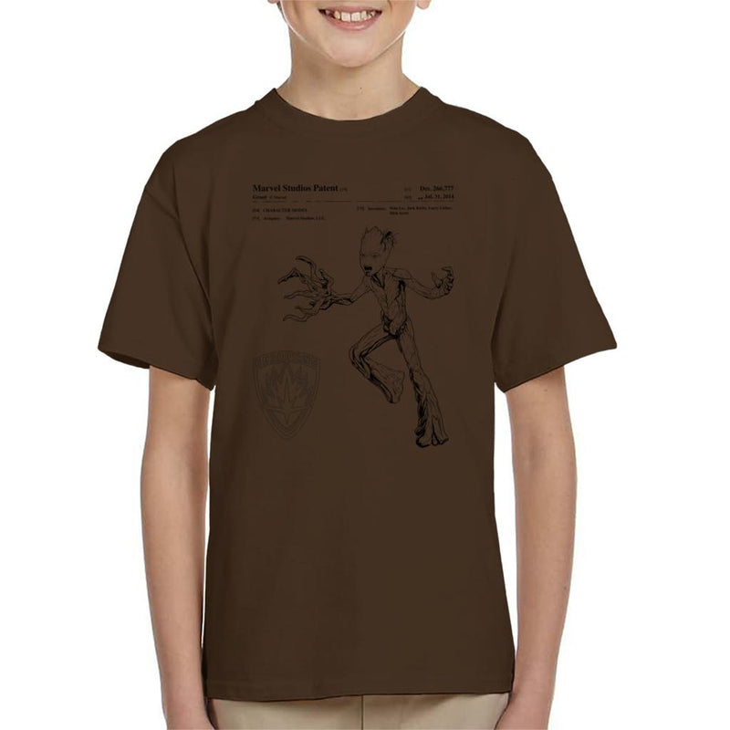 Marvel Guardians Of The Galaxy Teenage Groot Patent Kid's T-Shirt - POD66