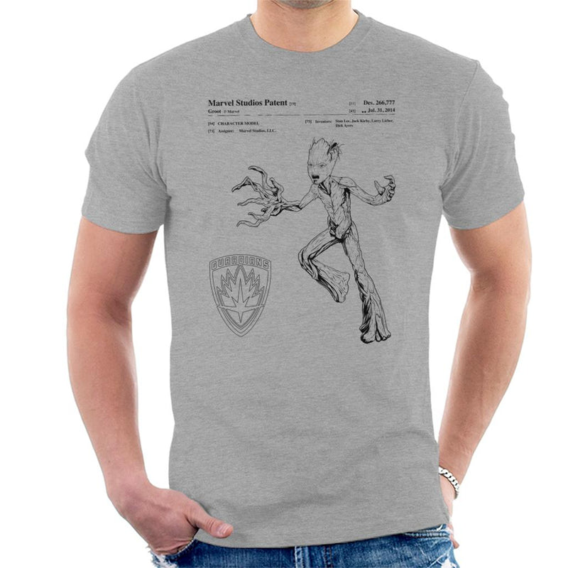 Marvel Guardians Of The Galaxy Teenage Groot Patent Men's T-Shirt - POD66