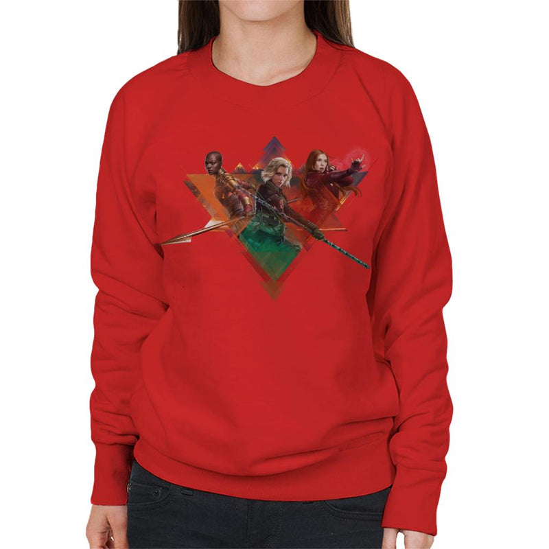Marvel Avengers Infinity War Widow Okoye Witch Montage Women's Sweatshirt - POD66