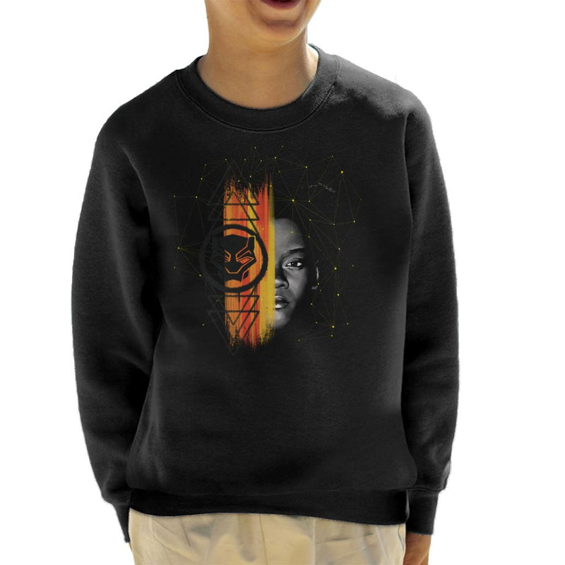 Marvel Black Panther Shuri Half Face Paint Kid's Sweatshirt - POD66