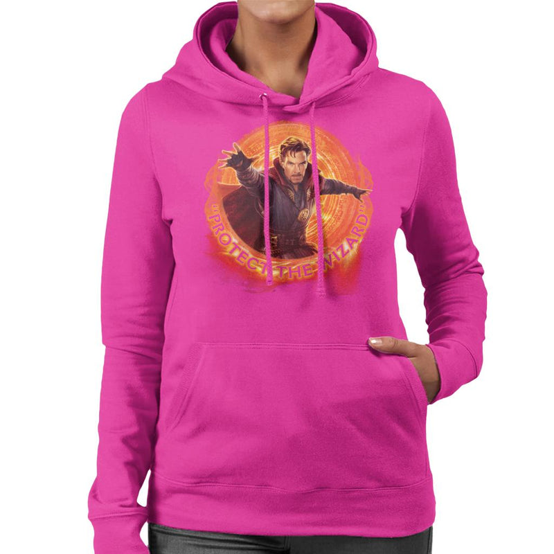 Marvel Avengers Infinity War Doctor Strange Protect The Wizard Women's Hooded Sweatshirt - POD66