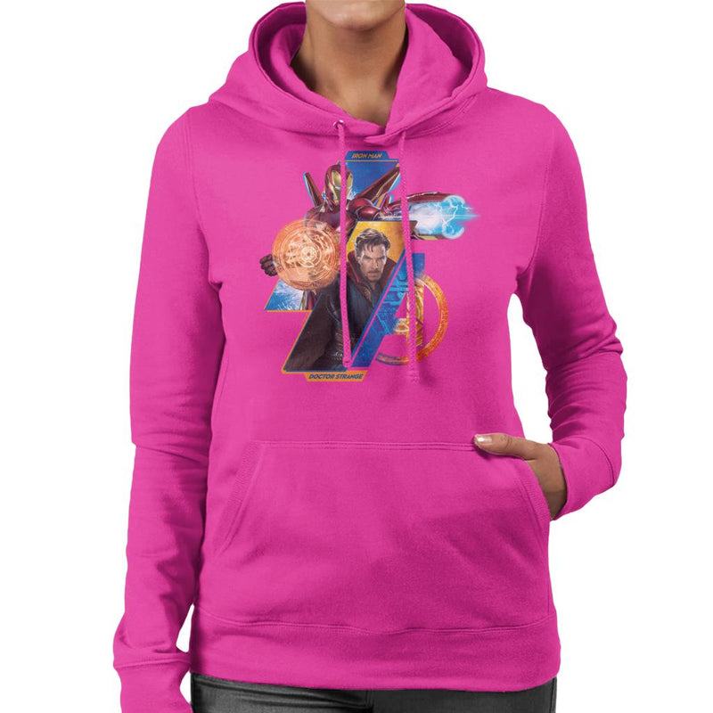 Marvel Avengers Infinity War Iron Man And Doctor Strange Women's Hooded Sweatshirt - POD66