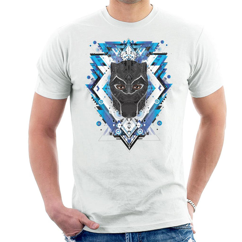 Marvel Black Panther Wakanda Vibranium Mask Pattern Men's T-Shirt - POD66