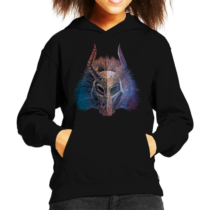 Marvel Black Panther Killmonger Mask Kid's Hooded Sweatshirt - POD66