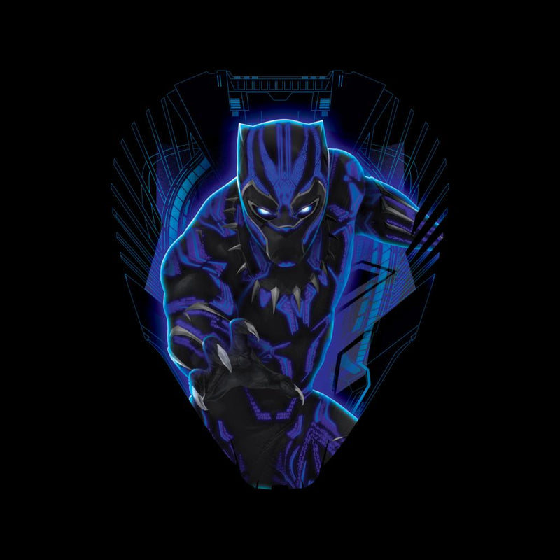 Marvel Black Panther Ship Royal Talon Fighter Silhouette Men's Hooded Sweatshirt - POD66
