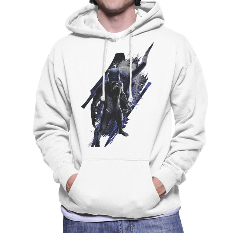 Marvel Black Panther Mask Battle Montage Men's Hooded Sweatshirt - POD66