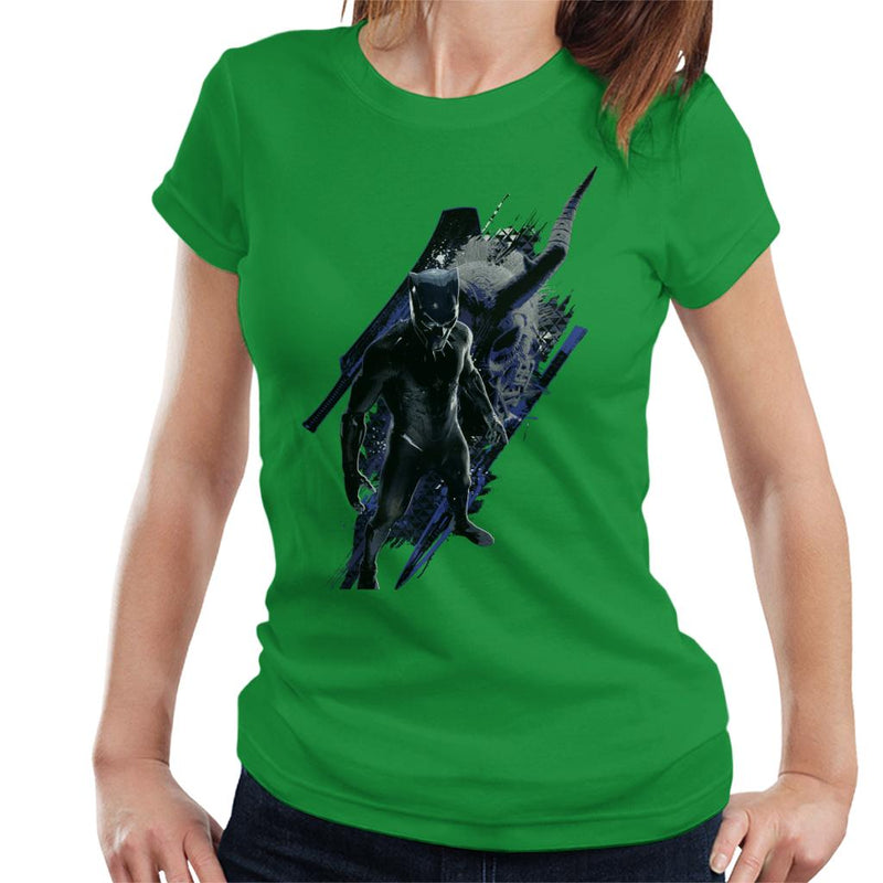 Marvel Black Panther Mask Battle Montage Women's T-Shirt - POD66