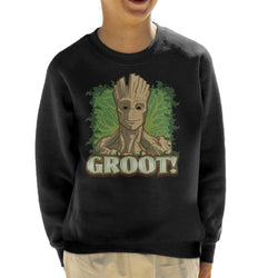 Marvel Guardians Of The Galaxy Groot Portrait Kid's Sweatshirt - POD66