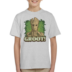 Marvel Guardians Of The Galaxy Groot Portrait Kid's T-Shirt - POD66
