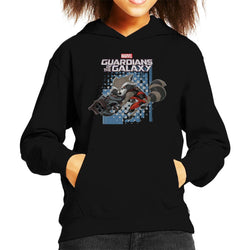 Marvel Guardians Of The Galaxy Rocket Raccoon Jump Kid's Hooded Sweatshirt - POD66