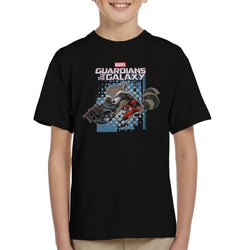 Marvel Guardians Of The Galaxy Rocket Raccoon Jump Kid's T-Shirt - POD66