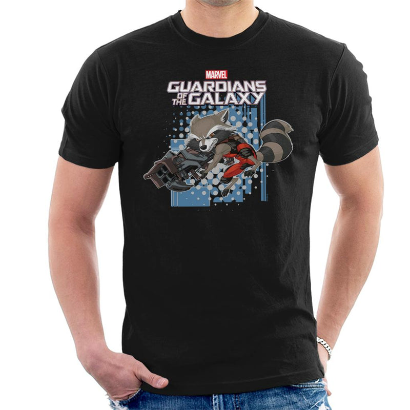 Marvel Guardians Of The Galaxy Rocket Raccoon Jump Men's T-Shirt - POD66