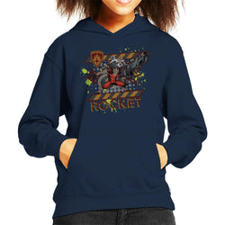 Marvel Guardians Of The Galaxy Rocket Raccoon Scream Kid's Hooded Sweatshirt - POD66