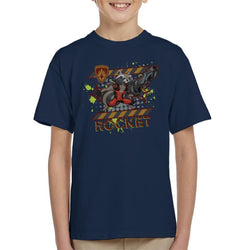 Marvel Guardians Of The Galaxy Rocket Raccoon Scream Kid's T-Shirt - POD66