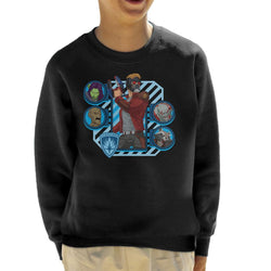 Marvel Guardians Of The Galaxy Cartoon Heads Kid's Sweatshirt - POD66