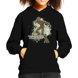 Marvel Guardians Of The Galaxy Groot Action Pose Kid's Hooded Sweatshirt - POD66