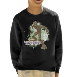 Marvel Guardians Of The Galaxy Groot Action Pose Kid's Sweatshirt - POD66
