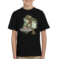 Marvel Guardians Of The Galaxy Groot Action Pose Kid's T-Shirt - POD66