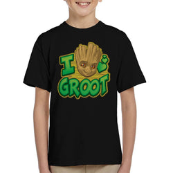 Marvel Guardians Of The Galaxy I Love Groot Kid's T-Shirt - POD66