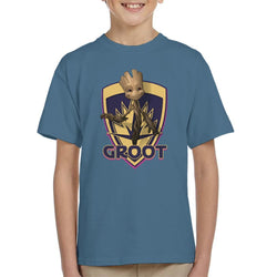 Marvel Guardians Of The Galaxy Badge Baby Groot Kid's T-Shirt - POD66